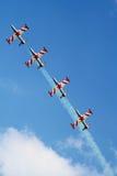 Quattro aerei e cieli della priorità bassa Immagine Stock Libera da Diritti