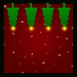 Quattro alberi di Natale del Libro Verde Sottosopra illustrazione vettoriale