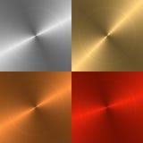 Quattro ambiti di provenienza del metallo Immagine Stock