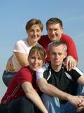 quattro amici fotografia stock