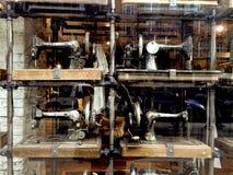 Quattro annata Cantante Sewing Machines Fotografia Stock Libera da Diritti