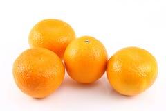 Quattro aranci Fotografia Stock