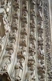 Quattro archvolts sul portale di vergine Maria, Notre Dame de Paris, Ile de la Cite, Parigi Francia Fotografia Stock