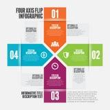 Quattro asse Flip Infographic Immagine Stock