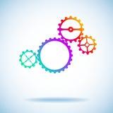 Quattro attrezzi colorati differenti Immagini Stock
