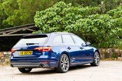 Quattro Audis A4 Avant 45 TFSI Antriebs-Tag Lizenzfreies Stockbild