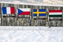 Quattro bandiere Immagini Stock Libere da Diritti