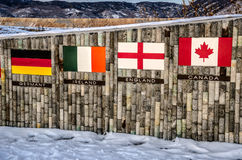 Quattro bandiere Fotografia Stock Libera da Diritti