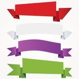 Quattro bandiere di carta Immagine Stock Libera da Diritti
