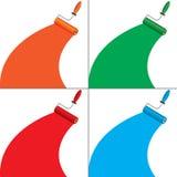 Quattro bandiere di colore illustrazione di stock