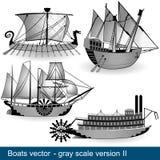 Quattro barche 2 Fotografie Stock
