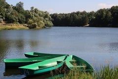 Quattro barche Fotografia Stock