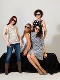Quattro belle donne Fotografia Stock Libera da Diritti