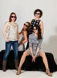Quattro belle donne Immagini Stock Libere da Diritti