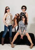 Quattro belle donne Immagini Stock