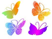 Quattro belle farfalle Fotografia Stock Libera da Diritti