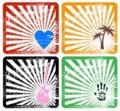 Quattro blocchi per grafici Immagini Stock Libere da Diritti