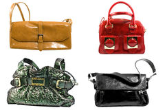 Quattro borse alla moda immagini stock