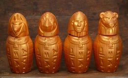 Quattro brocche dall'Africa Fotografia Stock