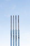 Quattro camini in una fila Fotografia Stock