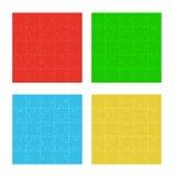 Quattro campi di puzzle di colore Immagine Stock Libera da Diritti