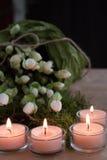 Quattro candele di arrivo Immagini Stock