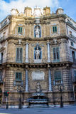 Quattro Canti, one of the four sides of the octagonal square in Stock Photography
