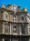 Quattro Canti in Palermo (four corners) Royalty Free Stock Photo