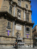 Quattro Canti in Palermo (four corners) Stock Images