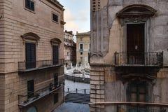 Quattro Canti in Palermo, Sicily Stock Photo