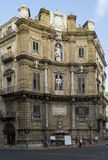 Quattro canti of palermo Royalty Free Stock Photos