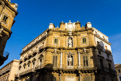 Quattro Canti square in Palermo, Italy Royalty Free Stock Image