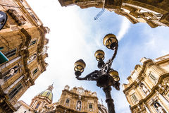 Quattro Canti square in Palermo, Italy Royalty Free Stock Photography