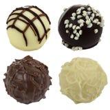 Quattro caramelle di cioccolato Immagine Stock Libera da Diritti