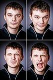 Quattro caratteri dell'uomo Fotografie Stock Libere da Diritti