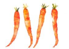 Quattro carote su bianco illustrazione vettoriale
