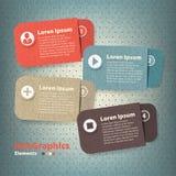 Quattro carte di carta colorate con il posto Immagine Stock Libera da Diritti