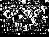 Quattro cavalieri del Saxon Fotografia Stock Libera da Diritti