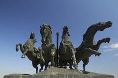 Quattro cavalli bronzei Fotografia Stock