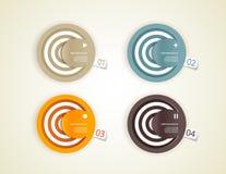 Quattro cerchi della carta colorata. illustrazione vettoriale