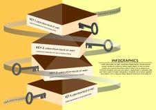 Quattro chiavi a successo Fotografia Stock Libera da Diritti