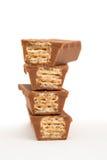 Quattro cialde del cioccolato fotografia stock