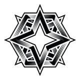 Quattro clipart hexa di vettore del poligono di duo della stella del punto 4point Fotografia Stock