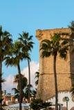 Quattro colonne dichtbij Santa Maria al Bagno Stock Afbeelding