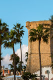 Quattro colonne nära Santa Maria al Bagno Fotografering för Bildbyråer