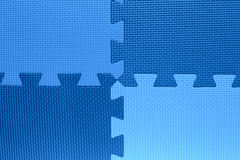 Quattro color field con i pezzi di puzzle Fotografia Stock Libera da Diritti