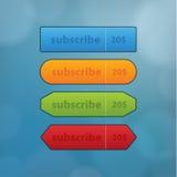 Quattro colorfully bottoni per il sito Web o la presentazione. Beve semplice royalty illustrazione gratis