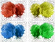 Quattro colori sottraggono la priorità bassa Fotografia Stock Libera da Diritti