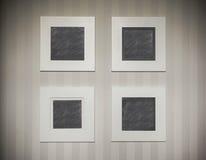 Quattro cornici vuote Fotografie Stock Libere da Diritti
