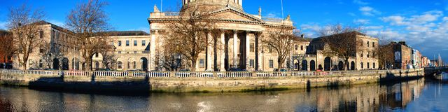Quattro corti a Dublino immagini stock
